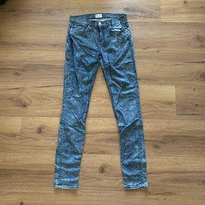 Hudson Acid Wash Skinny Jeans
